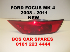 FORD FOCUS MK 4   REAR LIGHT FOG   DRIVER  SIDE   2008  2009  2010  2011  NEW